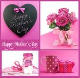 Ευτυχές κολάζ ημέρας μητέρων Στοκ εικόνες με δικαίωμα ελεύθερης χρήσης