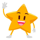 Ευτυχές κυματίζοντας χέρι αστεριών Στοκ φωτογραφία με δικαίωμα ελεύθερης χρήσης