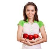 ευτυχές κόκκινο μήλων πο&up Στοκ εικόνα με δικαίωμα ελεύθερης χρήσης