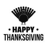 Ευτυχές λογότυπο ημέρας των ευχαριστιών της Τουρκίας, απλό ύφος ελεύθερη απεικόνιση δικαιώματος