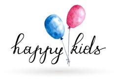 Ευτυχές λογότυπο παιδιών Στοκ φωτογραφία με δικαίωμα ελεύθερης χρήσης