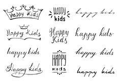 Ευτυχές λογότυπο παιδιών Στοκ Εικόνες