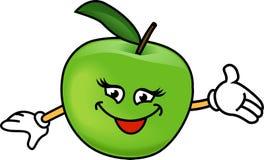 Ευτυχές μήλο Στοκ εικόνες με δικαίωμα ελεύθερης χρήσης