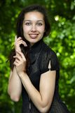 ευτυχές μοντέλο στηριγμά&t Στοκ φωτογραφία με δικαίωμα ελεύθερης χρήσης