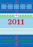 ευτυχές νέο έτος καρτών κ&alpha Στοκ Εικόνες