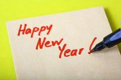 ευτυχές νέο έτος μηνυμάτων Στοκ Εικόνες