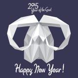 Ευτυχές νέο έτος του 2015 της αίγας! Στοκ Φωτογραφίες