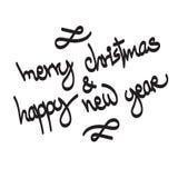 Ευτυχές νέο έτος του 2017 Χριστούγεννα εύθυμα Στοκ Εικόνες