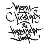 Ευτυχές νέο έτος του 2017 Χριστούγεννα εύθυμα Στοκ Εικόνα