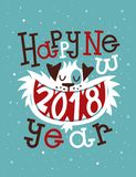 Ευτυχές νέο έτος του 2018 Στοκ Φωτογραφίες