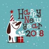 Ευτυχές νέο έτος του 2018 Στοκ εικόνα με δικαίωμα ελεύθερης χρήσης