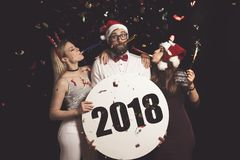 Ευτυχές νέο έτος του 2018 Στοκ Φωτογραφία
