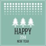 Ευτυχές νέο έτος του 2014 Στοκ Φωτογραφία