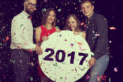 Ευτυχές νέο έτος του 2017 Στοκ φωτογραφία με δικαίωμα ελεύθερης χρήσης