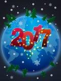 Ευτυχές νέο έτος του 2017! Στοκ Εικόνα