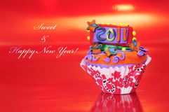 ευτυχές νέο γλυκό έτος Στοκ φωτογραφία με δικαίωμα ελεύθερης χρήσης