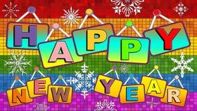 Ευτυχές νέο ομοφυλοφιλικό έτος ελεύθερη απεικόνιση δικαιώματος
