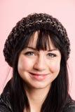 Ευτυχής γυναικών πορτρέτου ρόδινος υψηλός καθορισμός ανθρώπων υποβάθρου πραγματικός Στοκ Εικόνες