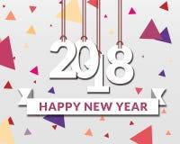 Ευτυχές νέο σχέδιο εγγράφου ετών 2018 Διανυσματική απεικόνιση