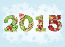 Ευτυχές νέο υπόβαθρο χαιρετισμού έτους του 2015 Στοκ Εικόνες