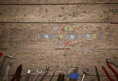 ευτυχές ξύλινο υπόβαθρο ημέρας της ανεξαρτησίας Στοκ Φωτογραφία