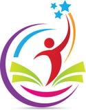 Ευτυχές λογότυπο εκπαίδευσης Στοκ εικόνα με δικαίωμα ελεύθερης χρήσης