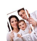 Ευτυχές οικογενειακό πορτρέτο Στοκ Εικόνες