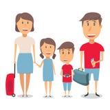 Ευτυχές οικογενειακό ταξίδι Στοκ φωτογραφία με δικαίωμα ελεύθερης χρήσης