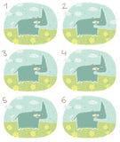 Ευτυχές οπτικό παιχνίδι Hippo Στοκ φωτογραφία με δικαίωμα ελεύθερης χρήσης