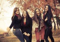 ευτυχές πάρκο κοριτσιών όμ Στοκ Εικόνες