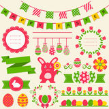 Ευτυχές Πάσχα! Διανυσματικά στοιχεία σχεδίου ελεύθερη απεικόνιση δικαιώματος
