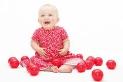 ευτυχές παιχνίδι μωρών στοκ εικόνες