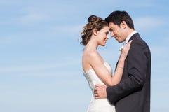 Ευτυχές παντρεμένο ζευγάρι Στοκ Εικόνες