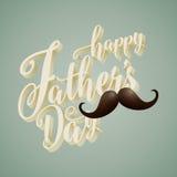 Ευτυχές πατέρων ` s υπόβαθρο τυπογραφίας ημέρας τρισδιάστατο Στοκ εικόνα με δικαίωμα ελεύθερης χρήσης