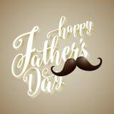 Ευτυχές πατέρων ` s υπόβαθρο τυπογραφίας ημέρας τρισδιάστατο Στοκ φωτογραφία με δικαίωμα ελεύθερης χρήσης