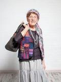 Ευτυχές παλαιό θηλυκό Στοκ εικόνες με δικαίωμα ελεύθερης χρήσης