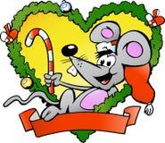ευτυχές ποντίκι Χριστουγέννων Στοκ Εικόνα