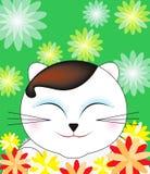 ευτυχές πορτρέτο γατών ελεύθερη απεικόνιση δικαιώματος