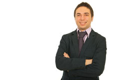 ευτυχές πορτρέτο επιχειρηματιών στοκ εικόνες με δικαίωμα ελεύθερης χρήσης