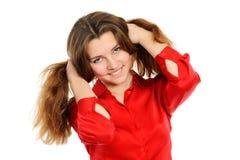 ευτυχές πορτρέτο κοριτσ Στοκ φωτογραφία με δικαίωμα ελεύθερης χρήσης