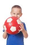 ευτυχές ποδόσφαιρο φορέ&o Στοκ εικόνα με δικαίωμα ελεύθερης χρήσης