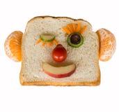 Ευτυχές πρόσωπο ψωμιού που απομονώνεται Στοκ φωτογραφία με δικαίωμα ελεύθερης χρήσης