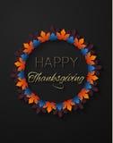 Ευτυχές πρότυπο λογότυπων ημέρας των ευχαριστιών Στοκ Εικόνες