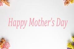 Ευτυχές πλαίσιο λουλουδιών ημέρας Mother's Στοκ Εικόνες