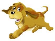 Ευτυχές σκυλί κινούμενων σχεδίων - ζώο αγροκτημάτων - που απομονώνεται ελεύθερη απεικόνιση δικαιώματος
