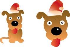 Ευτυχές σκυλί Χριστουγέννων Απεικόνιση αποθεμάτων