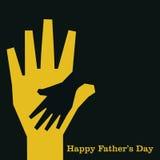 Ευτυχές σχέδιο ευχετήριων καρτών ημέρας πατέρων Στοκ Εικόνα