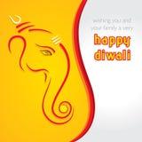 Ευτυχές σχέδιο ευχετήριων καρτών σκίτσων chaturthi ganesh Στοκ φωτογραφία με δικαίωμα ελεύθερης χρήσης