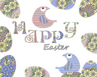 Ευτυχές σχέδιο κάλυψης ευχετήριων καρτών αυγών Πάσχας Στοκ Εικόνες