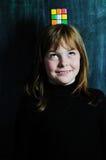 Ευτυχές σχολικό κορίτσι Στοκ εικόνα με δικαίωμα ελεύθερης χρήσης